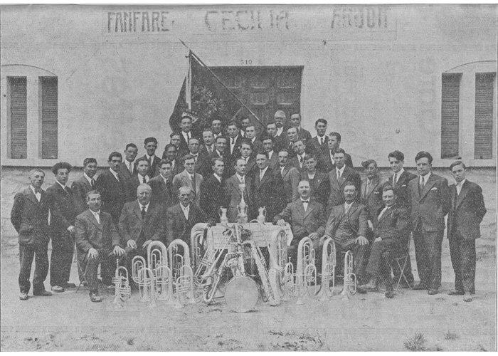 La fanfare en 1934